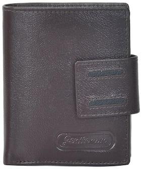 Gentleman Men Brown Leather Bi-Fold Wallet ( Pack of 1 )