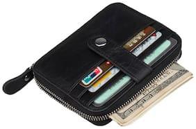 Genuine Leather Men Business Card Holder Wallet
