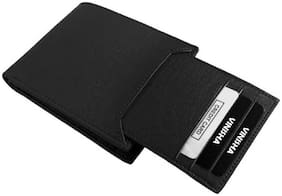 Genuine Leather (pu) Purse For Men, Separable Card Holder, Black in colour, Bi-Fold, Hand Made, Long Lasting Quality, (M-0015)