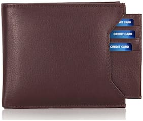 Genuine Leather (pu) Purse For Men, Separable Card Holder, Brown in colour, Bi-Fold, Hand Made, Long Lasting Quality, (M-0012)