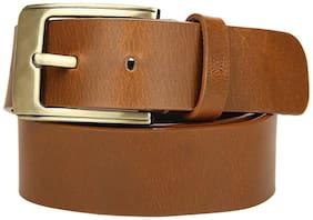 Genuine Leather Tan Oil Pull-up Tan Belt