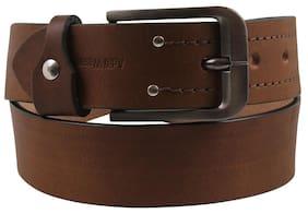 Genuine Leather Tan Belt By Aditi Wasan
