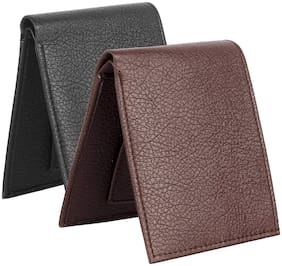 Genuine Premium Quality Purse for men, Gent wallet, Brown black Color combo 2