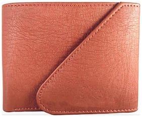 Genuine Triple Fold Men Leather Wallet (Tan)