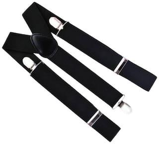 Gking Men'S Belts & Suspender Y-Back (Black)
