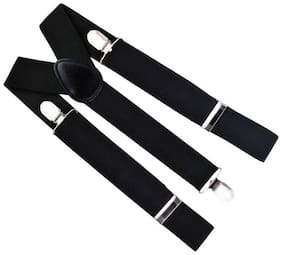 Gking Y- Back Suspenders for Men, Boys  (Black)