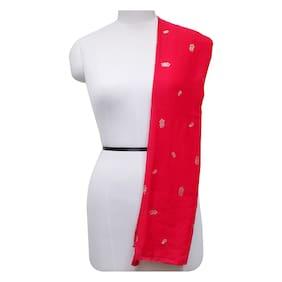 Glassiano Women Cotton Scarves - Red