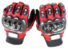 ATTRACTIVE OFFER WORLD Women Synthetic Leather Gloves - Red