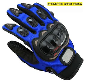 ATTRACTIVE OFFER WORLD Women Synthetic Leather Gloves - Blue