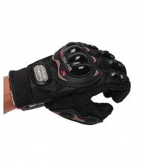 ATTRACTIVE OFFER WORLD Women Synthetic Leather Gloves - Black