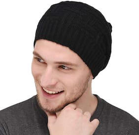 Glow Unisex Fashionable Woolen Beanie Cap for Men's | Women | Girls (4072, Free Size)