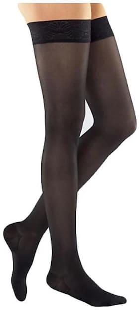 GLUCKLICH STOCKING/GIRL STOCKINGS/NYLON BLACK STYLISH STOCKINGS/1 PAIR