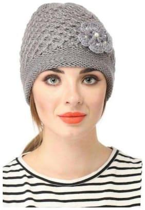 Women Wool Caps ( Grey )