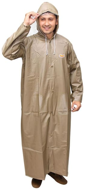 Goodluck Men's Nylon Raincoat/Rainwear/Rainsuit