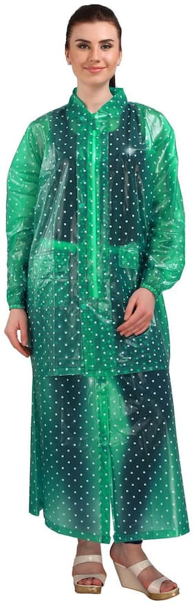Goodluck Transparent Raincoat For Women's With Skirt (Size:XXL)