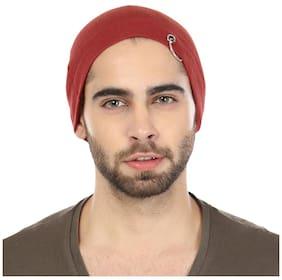Grabberry Men's Red Color Grabiel Cotton Cap For Men With Ring Insert