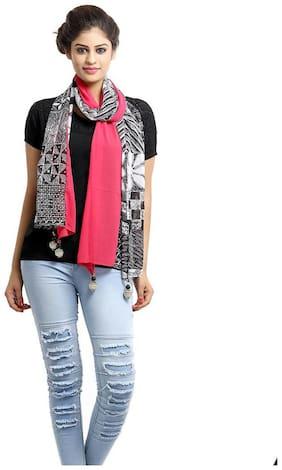 Grishti Flamingo Women's Pink Polyester Stole