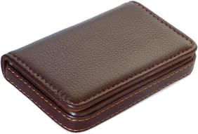 Haadeez Men Leather Card holder - Brown , Pack of 1