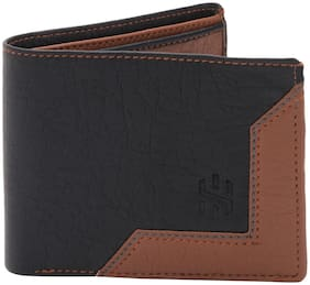 HAMSTON Men Black Pu Bi-Fold & Long Wallet ( Pack of 1 )