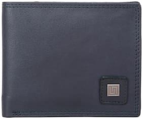U+N Men Black Leather Bi-Fold Wallet ( Pack of 1 )