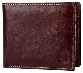 U+N Men Brown Leather Bi-Fold Wallet ( Pack of 1 )