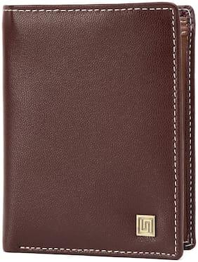 U+N Men Brown Leather Bi-Fold Wallet ( Pack of 1 )