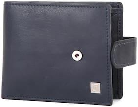 U+N Men Blue Leather Bi-Fold Wallet ( Pack of 1 )