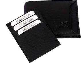hand made saparable pocket pure leather wallet for men (  Black bacha -3)
