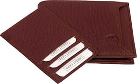 hand made separable pocket pure leather (pu) wallet ( Brown bacha -3)
