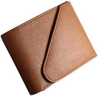 hand made stylish pure leather (pu) wallet ( Tan kaan-1)