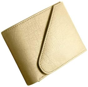 hand made stylish pure leather (pu) wallet (cream kaan- 1)