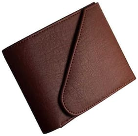 hand made stylish pure leather (pu) wallet ( Brown kaan -1 )