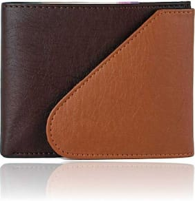 hand made stylish pure leather (pu) wallet ( mix kaan -1)
