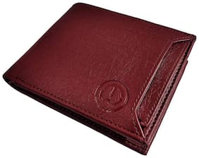 FRIENDS & COMPANY Men Brown Synthetic leather Long Wallet ( Pack of 1 )