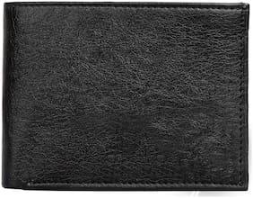 HARLIE KING Men Black Leather Bi-Fold Wallet ( Pack of 1 )