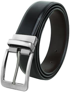 HARLIE KING Men Black Leather Belt (Size: 42 , Pack of 1 )