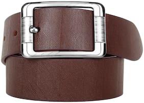 HARLIE KING Men Brown Leather Belt (Size: 32 , Pack of 1 )