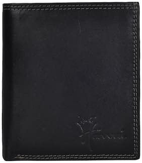 Hawai Black Statement Notecase With Red Interiors