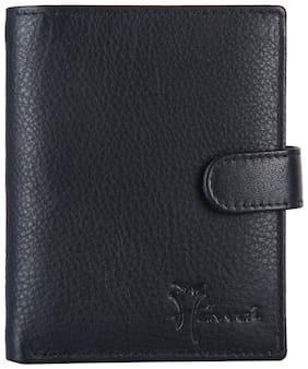 Hawai Black Genuine Leather Wallet for Men (14 Card Slots)