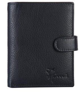 Hawaishop Men Leather Bi-fold - Black
