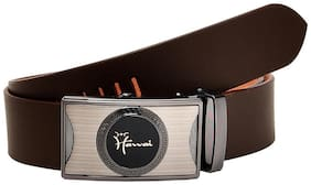 Hawai Brown Smooth High Quality Leather Belt