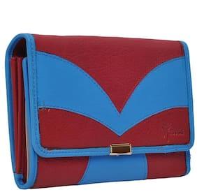 Hawaishop Women Leather Wallet - Blue