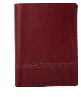 Hawai Elegant Maroon Genuine Leather Wallet  (7 Card Slots)