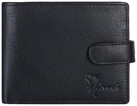 Hawaishop Men Black Leather Bi-Fold Wallet ( Pack of 1 )