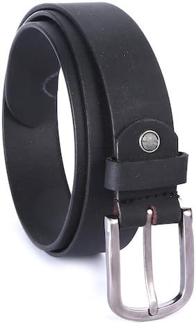 Hawai Men Casual Black Genuine Leather Belt