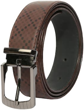 Hawkeyed Men Brown Pu Belt (Size: 38 , Pack of 1 )