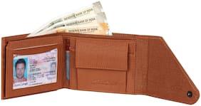 HEART CHOICE Men Tan Pu & Leather Money Clip & Bi-Fold Wallet ( Pack of 1 )