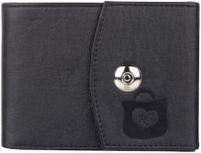 HEART CHOICE Men Black Pu & Leather Money Clip & Bi-Fold Wallet ( Pack of 1 )
