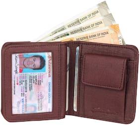 HEART CHOICE Men Brown Pu & Leather Money Clip & Bi-Fold Wallet ( Pack of 1 )