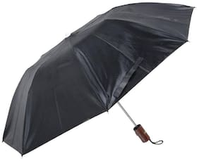 Hello Brand 2 Fold 21x8 Black Umbrella